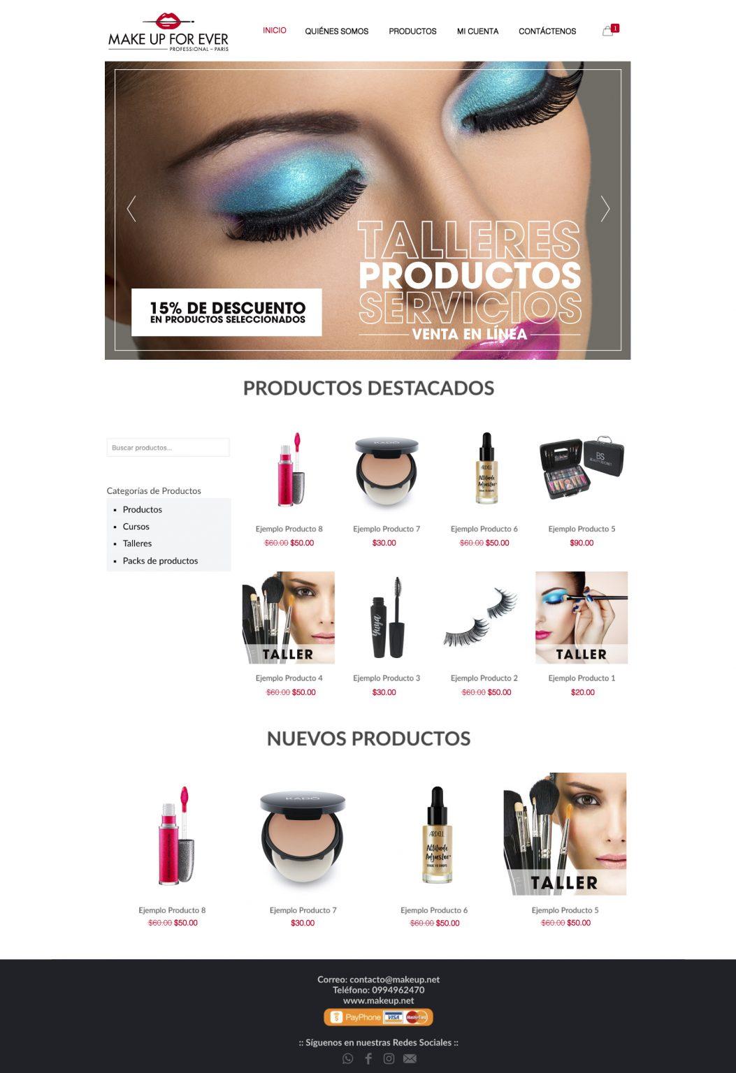 Venta de Productos de belleza